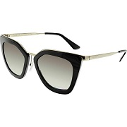 prada womens black cat eye sunglasses pr53ss - prada-womens-black-cat-eye-sunglasses-pr53ss